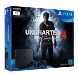 Consola Sony PlayStation 4 Slim, 1TB + Extra Controller + Uncharted 4