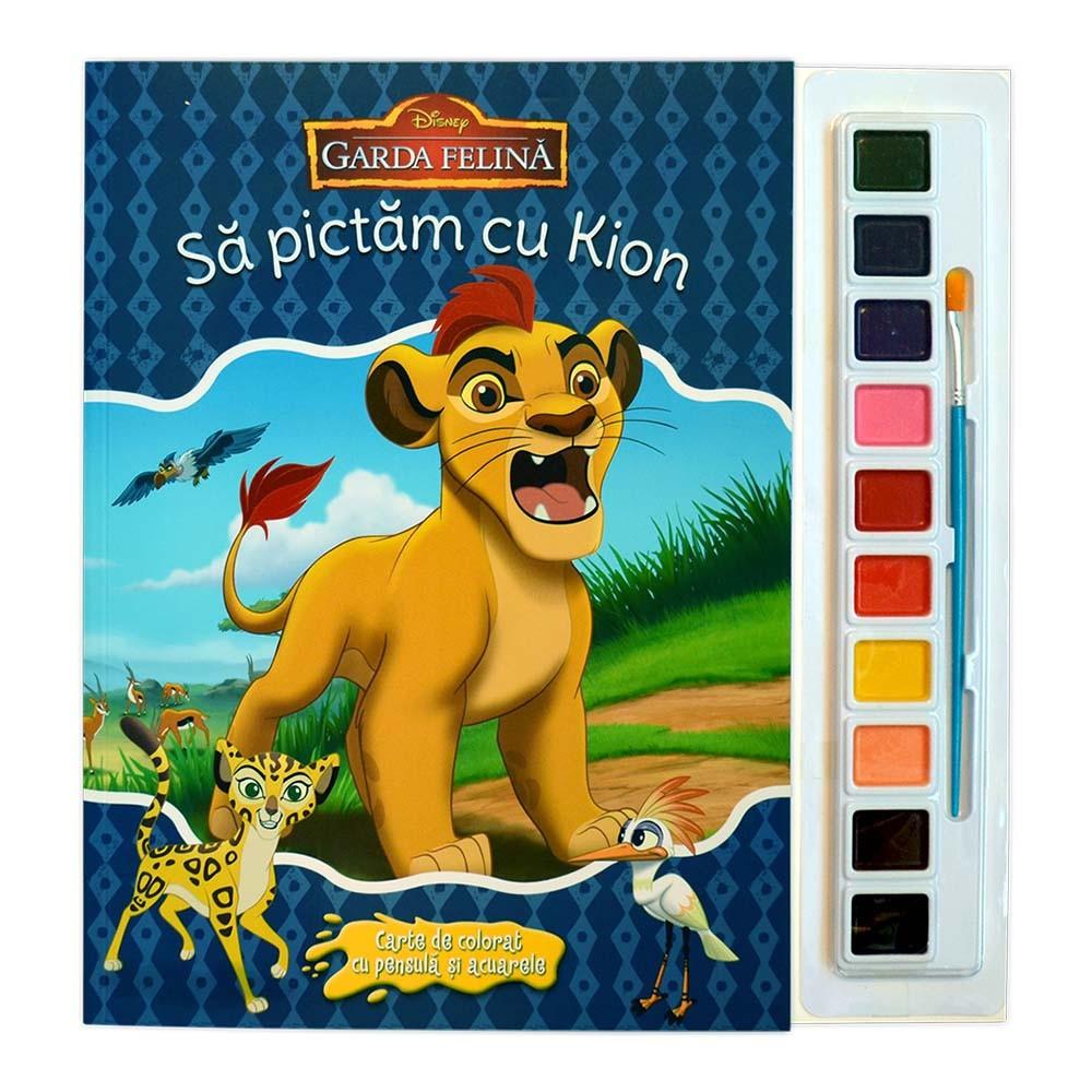 Carte De Colorat Cu Pensula Si Acuarele Disney Sa Pictam