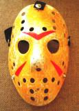 Masca Jason Vorhees galbena, plastic, noi! Halloween!, Marime universala, Crem