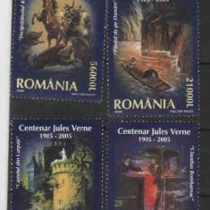 2005 Romania,LP 1678-Centenar Jules Verne 1905-2005-MNH, Nestampilat