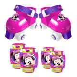 Set de protectie si role cu 4 roti Minnie Mouse, Marime 23-27, Stamp