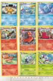 bnk crc Cartonase de colectie - Pokemon 2015 - 54 diferite
