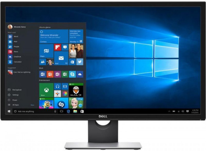 "Monitor TN LED Dell 27.9"" S2817Q, Ultra HD (3840 x 2160), HDMI-MHL, DisplayPort, 2 ms (Negru)"