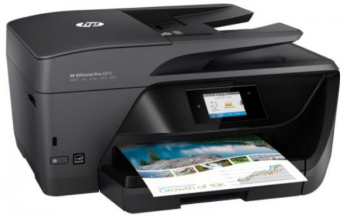 Multifunctional HP OfficeJet Pro 6970 All-in-One, Fax, A4, 20 ppm, Duplex, ADF, Retea, Wireless, ePrint, AirPrint