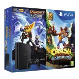 Consola Sony PlayStation 4 (PS4) Slim, 500GB, 8GB RAM + Ratchet & Clank + Crash Bandicoot