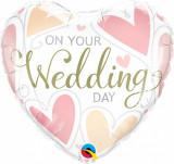 Balon folie 45 cm Wedding - Qualatex 57325