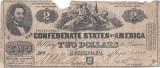 1862 (2 VI), 2 dollars (P-41) - Statele Confederate ale Americii! (CRC: 83%)