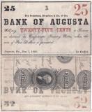 1863 (1 I), 25 cents (Haxby 30-G144) - Augusta (Statele Unite ale Americii)