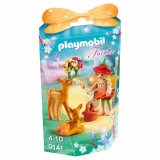 Set figurine Playmobil Fairies - Zana cu caprioare (9141)