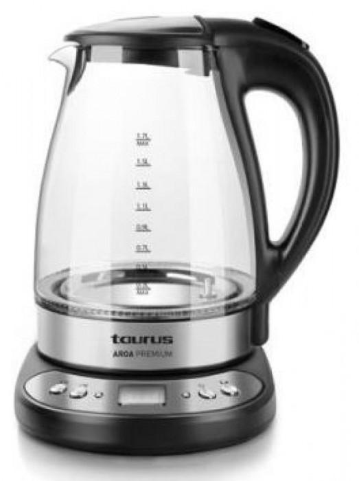 Fierbator de apa Taurus Aroa Premium, 1.7l, 2200W (Negru)