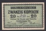 A2822 Germany Germania Lithuania Lituania 20 kopeken 1916 aUNC