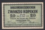 A2822 Germany Germania Lithuania Lituania 20 kopeken 1916 aUNC