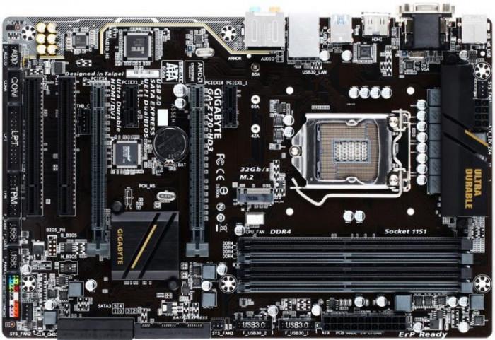 Placa de baza GIGABYTE Z170-HD3, Intel Z170, LGA 1151