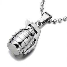 Lant  +medalion grenada inox = 40 ron