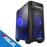 Sistem desktop Game ON Powered by ASUS Intel Core i3-8100 Quad Core 3.6 GHz 8GB DDR4 AMD Radeon RX 550 4GB DDR5 1TB HDD FreeDOS Black