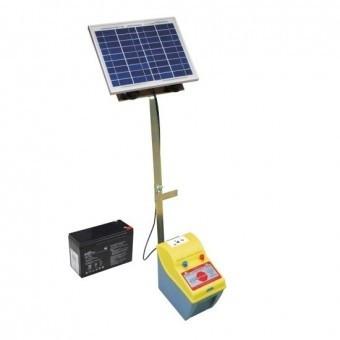 Set generator gard electric Ecostop 370 cu acumulator 7ah si panou solar 10w foto