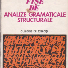 VALERIU VLAD - FISE DE ANALIZE GRAMATICALE STRUCTURALE ( CULEGERE DE EXERCITII )