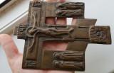 Cumpara ieftin RUSIA antica anii 1700 -1800 cruce ortodoxa icoana bronz slavona antichitati