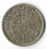 Moneda 20 escudos 1952 - Mozambic, 10 g argint 0,7200, Africa
