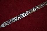 BRATARA - ARGINT 925 - Barbati - Mare - Lata - Model Grecesc - 22.5cm. - 38g. !