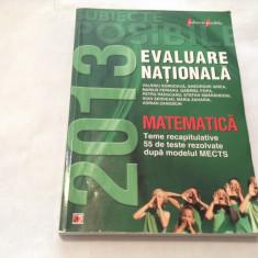 MATEMATICA. EVALUARE NATIONALA, 2013-RF14/2