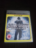 Joc Call of Duty World at War, PS3, original, alte sute de jocuri!, Shooting, 18+, Single player, Activision