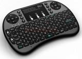 Tastatura mini RII RTMWK08P, wireless, iluminata, cu touchpad, pentru Smart TV, PC