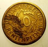 2.175 GERMANIA WEIMAR 10 RENTENPFENNIG 1924 A, Europa, Bronz-Aluminiu