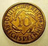 2.218 GERMANIA WEIMAR 10 REICHSPFENNIG 1929 A, Europa, Bronz-Aluminiu