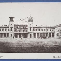 Carte Postala Gara de Nord - Bucuresti, Circulata, Printata