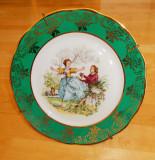 Farfurie - decorativa / colectie - portelan frantuzesc - Limoges -pictata manual, Decorative