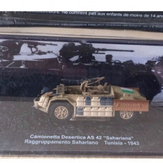 Macheta tanc CAMIONETTA DESERTICA AS 42 TUNISIA - 1943 + revista scara 1:72
