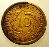 2.156 GERMANIA WEIMAR 10 RENTENPFENNIG 1924 A, Europa, Bronz-Aluminiu