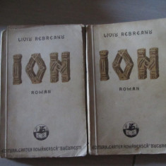 ION LIVIU REBREANU VOL,1,2 ED 1938