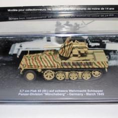 Macheta tanc 3,7cm Flak 43 Wehrmacht Schlepper Germany 1945 + revista scara 1:72