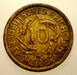 2.204 GERMANIA WEIMAR 10 REICHSPFENNIG 1925 A, Europa, Bronz-Aluminiu