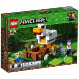 Set de constructie LEGO Minecraft Cotetul de Gaini
