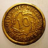 2.203 GERMANIA WEIMAR 10 REICHSPFENNIG 1925 F, Europa, Bronz-Aluminiu