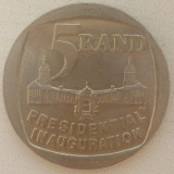 Republica Africa de Sud - 5 Rand 1994 - Inaugurare Prezidentiala