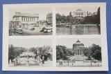 Carte Postala Mozaic - Cercul Militar - Calea VIctoriei - Bucuresti