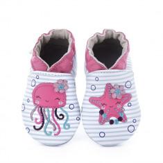 Pantofi bebelusi Aqua Party Blanc Bleu