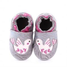 Pantofi bebelusi Lovely Birds Light Grey