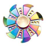 Jucarie antistres Spinner Fidget metalic, multicolor