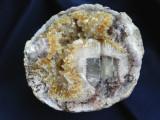 Specimen minerale - GEODA AMETIST CU CALCITA SI FLUORINA (B2)