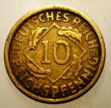 2.217 GERMANIA WEIMAR 10 REICHSPFENNIG 1924 D, Europa, Bronz-Aluminiu