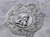MEDALION argint INGERAS HERUVIM superb FRANTA 1900 OPULENT gravat manual UNICAT