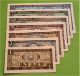 Set complect  1,3,5,10,25,50,100 lei 1966 ..perfect UNC