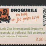 2006 Romania,LP 1728-Ziua Internat. impotriva trafic. si consum. de droguri-MNH, Nestampilat
