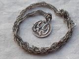 MEDALION argint DUHUL SFANT superb VECHI de colectie RAR splendid pe Lant argint