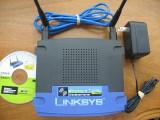 Router wireless LINKSYS WRT546 (802.11b/g) 2 antene, alimentator, CD, 4, 1